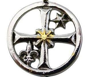 lunate cross pendant