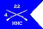 Guidon of HHC 4th BN 22nd INF