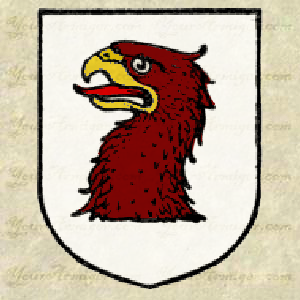 Heraldic Eagle's head couped