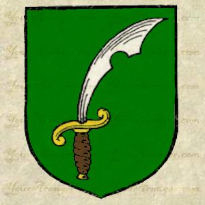 Seax as used in heraldry