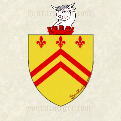 The coat of arms and family crest of Nicholas Barber