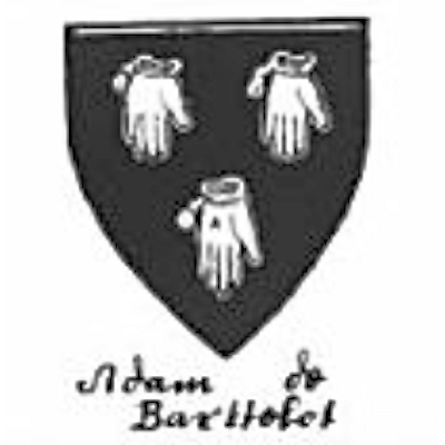 The ancient arms of Adam de Barttelet