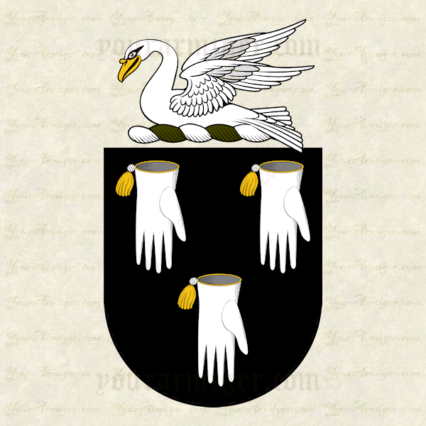 The coat of arms and family crest of Richard Bartlett