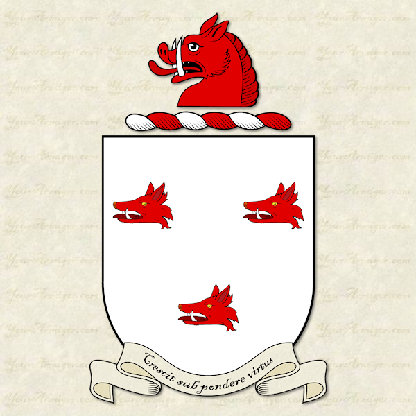 The coat of arms and family crest of Dr. Thomas Barton
