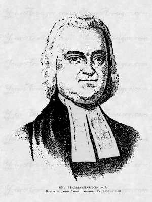 Portrait of Dr. Thomas Barton of New Jersey