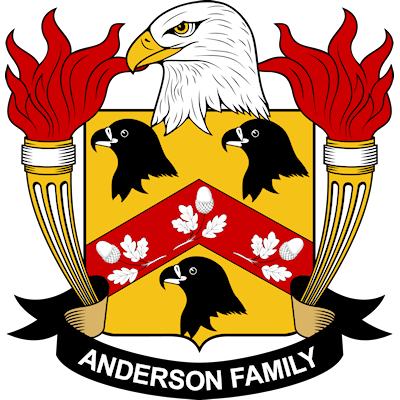 "A coat of arms often incorrectly attributed as being a ""Family Crest"" for all persons with the last name Anderson."