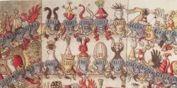 "Helmshau from the ""Wapencodex zu Müchen"" late 15th Century"