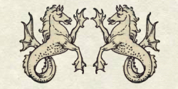 Two Seahorses Affrontant from the arms of Pirrie