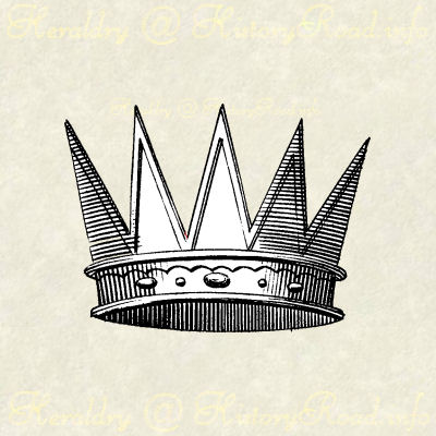 An Ancient Crown as drawn in heraldry during Victorian times.