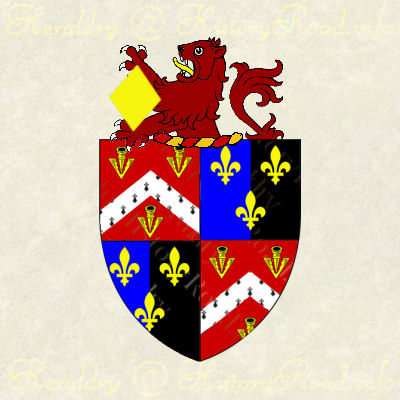 The arms of William Arnold with Family Crest.
