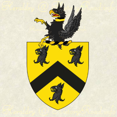 The coat of arms and family crest of William Aspinwall